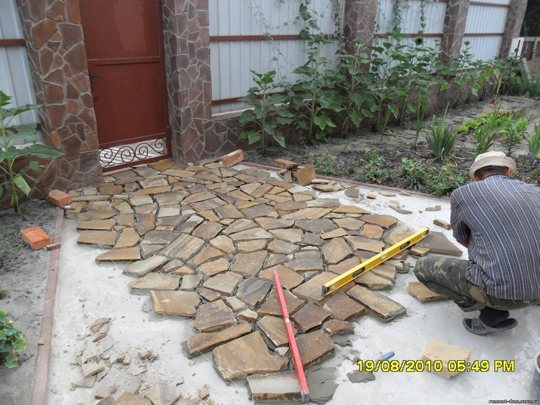 Как сделать дорожки из природного камня своими руками 16
